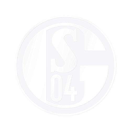 FC Schalke 04 Aufkleber Logo XXL weiß, Sticker, Autoaufkleber Maxi S04 - Plus Lesezeichen I Love Gelsenkirchen