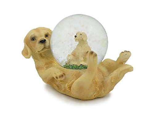 Euro Souvenirs Glitzerkugel Labrador Schneekugel Tier Tiere Schneekugeln Hund Hunde Welpe