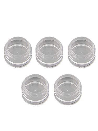 Loriver 5x contenants cosmétiques en plastique pots empilables contenant de stockage de poudre à ongles New One Tool