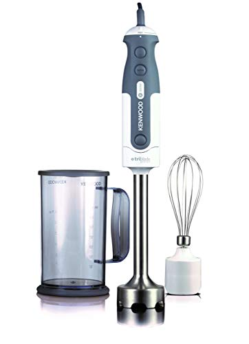 Kenwood HDP402WH Triblade Mixer ad Immersione, 800 W, Grigio/Bianco