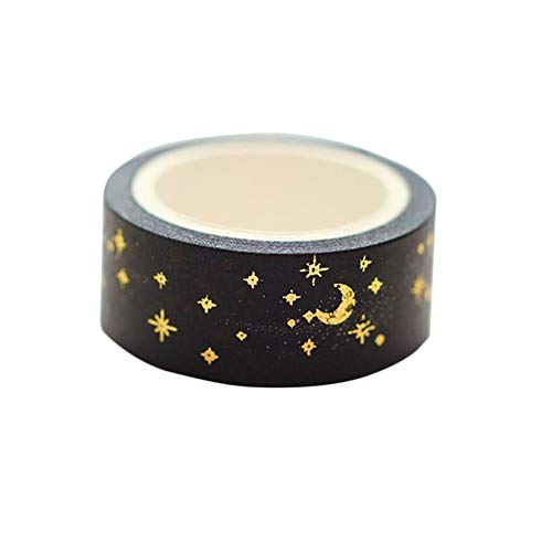 JUNGEN Washi Tape Cinta Adhesiva Washi Decorativa, con Estampación en Caliente, para Manualidades, Pegatinas, Scrapbooking, Material Escolar, Stickers, Regalos