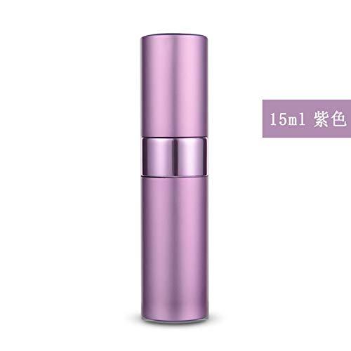 Bouteille de parfum en aluminium en aluminium vaporisateur violet 15 ml