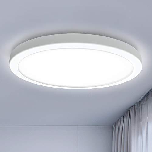 BENMA LED Deckenleuchte 18W 6000K Deckenlampe 20000H Langlebiger Service Ø18cm Kaltweiß Badezimmer Lampen Für Wohnzimmer Schlafzimmer Balkon (Weißes Licht)