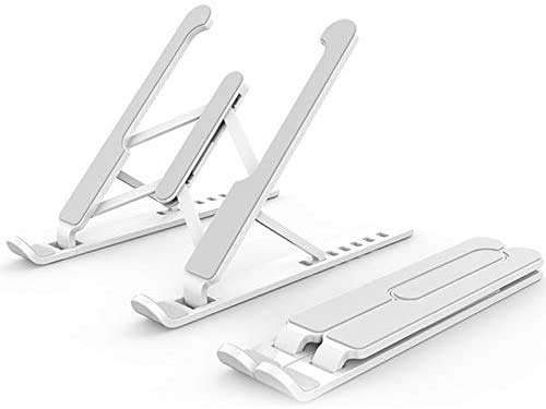 VIVICF Portable Laptop Stand Foldable Support Base Notebook Stand For Macbook Pro Computer Laptop Holder Cooling Bracket Riser,White
