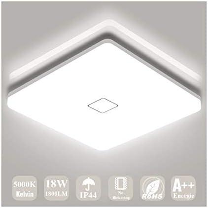 Airand 5000K LED Ceiling Light Flush Mount Ceiling Lamps 18W LED Ceiling Light Fixture 10 6 product image