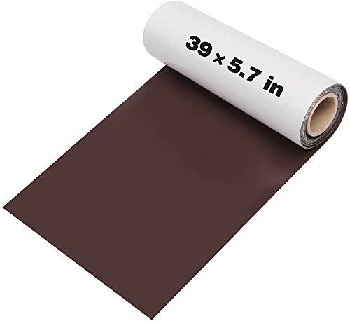 Kit de parches de piel autoadhesivos, 14,5 cm x 100 cm, juego de reparación de parches de cuero, juego de reparación para vinilo y piel sintética
