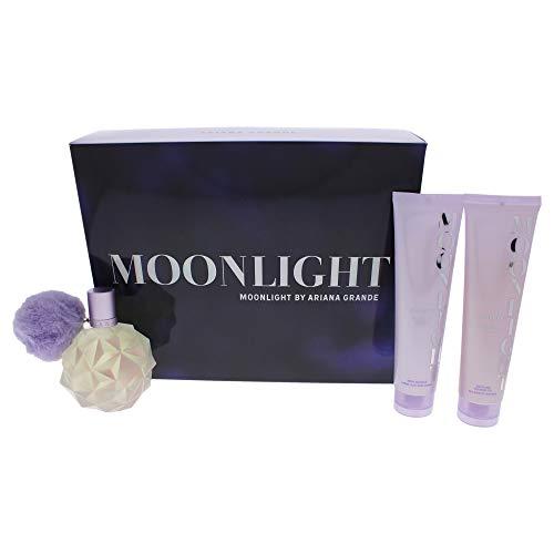 Moonlight von Ariana Grande für Frauen – 3-teiliges Geschenkset mit Eau de Parfum Spray, 97 ml Körpercreme, 96 ml Bade- und Duschgel