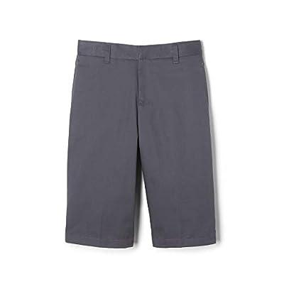 French Toast Big Boys' Basic Flat Front Short with Adjustable Waist, Grey, 8