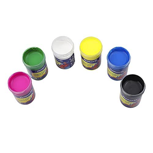 Pelikan - Témpera, Frascos, 6 Colores, 25ml, Lavables, Actividades Creativas, Para Niños
