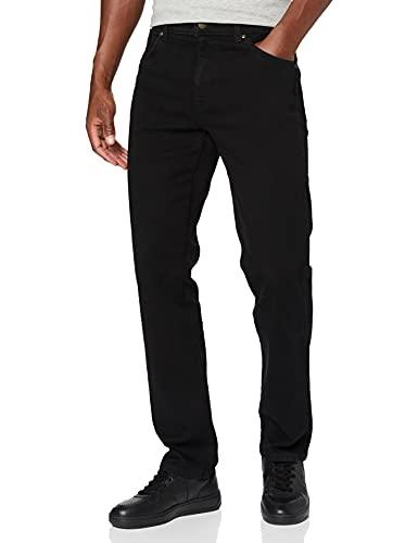 Wrangler Herren Durable Regular Fit Straight Leg Jeans, Schwarz (Black), 42W / 32L