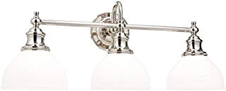 Hudson Valley Lighting 5903-PN Three Light Bath Bracket from The Sutton Collection, 3, Polished Nickel