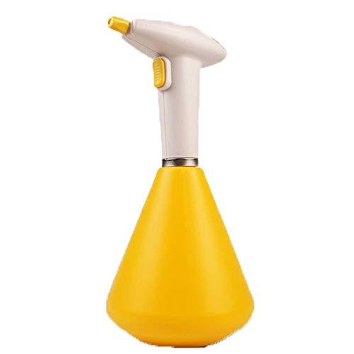 Spuitflessen MYKK Usb Oplaadbare automatische gieter Huishoudelijke spuit Kleine hogedruk gieter 25 * 13 * 12cm geel