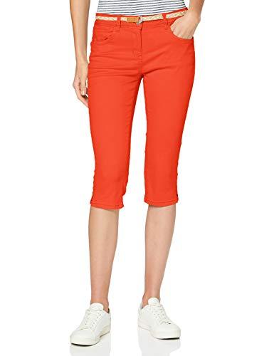 Tom Tailor Alexa Pantalón, 22370/Strong Flame Orange, 36 para Mujer