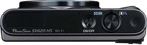 Canon PowerShot SX620 HS Digitalkamera (20,2 MP, 25-fach optischer Zoom, 50-fach ZoomPlus, 7,5cm (3 Zoll) Display, CMOS-Sensor; DIGIC4+, optischer Bildstabilisator, WLAN, NFC, HDMI) Kamera, schwarz