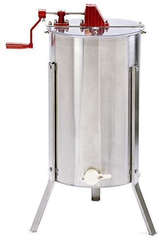 Little Giant Stainless Steel 2-Frame Extractor Hand-Crank Honey Extractor for Beekeeping (Item No....