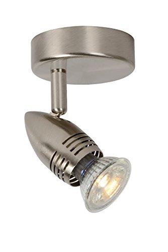 Lucide CARO-LED - Spot Mural - Ø 9 cm - LED - GU10 - 1x5W 2700K - Chrome Dépoli