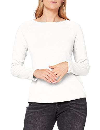 Street One Damen 315257 Langarmshirt Style Mina Flammgarn Optik T-Shirt, Off White, 38