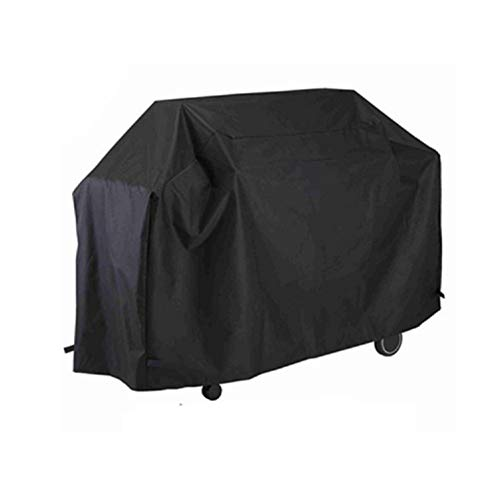 HK5G Grill Abdeckhaube, Oxford-Gewebe Grillabdeckung BBQ Wasserdicht Barbecue Kordelzug zur Bodenbefestigung, Winddichte Wetterschutzhaube für den Außenbereich (M-100 x 65 x150)