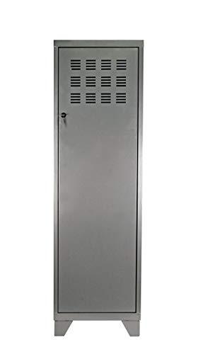 Rangement 1 Porte GM avec 4 Pieds et 3 Étagères, Aluminium