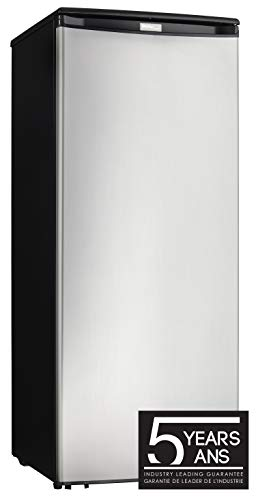 Danby DUFM085A4BSLDD 8.5 Cu.Ft. Garage Ready Upright Freezer with 5 Shelves, Mechanical Thermostat and Manual Defrost, Energy Star Rated