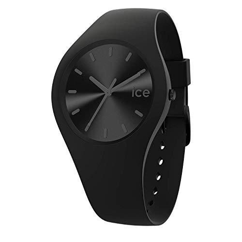 Ice-Watch - Ice Colour Phantom - Montre Noire Mixte avec Bracelet en Silicone - 017905 (Medium)