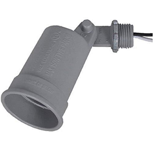 Master Electrician LH150-5X - Soporte para lámpara de porcelana con anillo de bloqueo y junta para lámparas de 75 a 150 W y 38