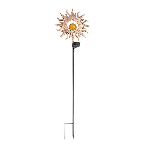 Happyyami Iluminación Solar Exterior Luces de Sendero con Energía Solar Decoraciones de Patio de Jardín Aire Libre Decoraciones de Jardín Solar Decoración de Césped