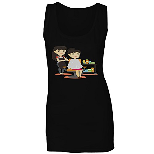 Pelo De Corte De Peluquería Camiseta sin Mangas Mujer q618ft