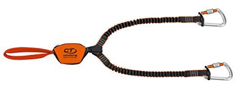 Climbing Technology Classic-K Slider, Set Ferrata Unisex – Adulto, Arancio/Grigio, Taglia Unica