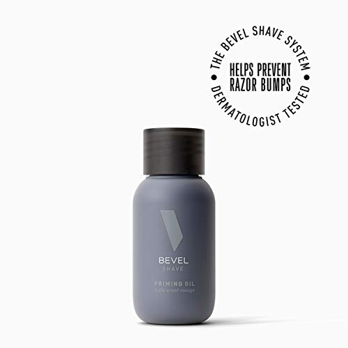 Pre Shave Oil for Men's Beard Care by Bevel, Shaving Cream Alternative with Castor Oil and Olive Oil, Helps Soften Hair and Protects Skin from Irritation, 1 fl oz.