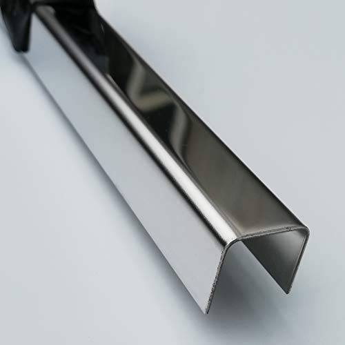 Einfassprofil Edelstahl U-Profil 1 Meter U Blech 0,8 mm stark (Spiegel SM8, 15x15x15 mm)