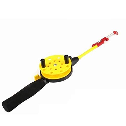 RENSLAT Neues EIS-Angelruten-Set für Winter-Angelrutenhalter zum Angeln von Karpfen-Eisruten-Combo-Teleskopruten-Kit (Color : A)