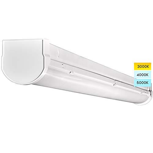 Luxrite 3FT LED Shop Light , 26W Linear Strip Lights, 3 Color Options 3000K   4000K   5000K, 0-10V Dimmable LED Garage Ceiling Lights, 3000 Lumens, 120-277V, Damp Rated, Surface Mounted LED Fixture