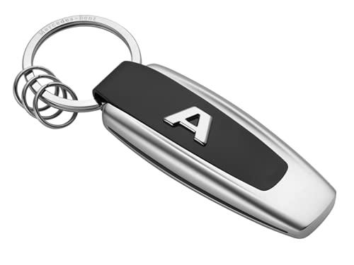 Mercedes-Benz Schlüsselanhänger Typo A-Klasse Edelstahl schwarz/silber