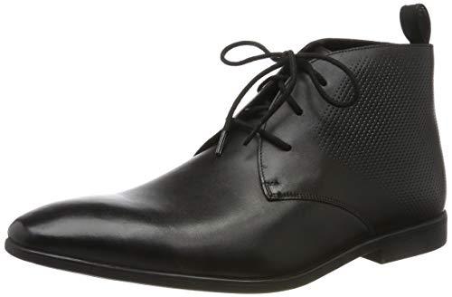 Clarks Herren Bampton Up Klassische Stiefel, Schwarz (Black Leather Black Leather), 43 EU