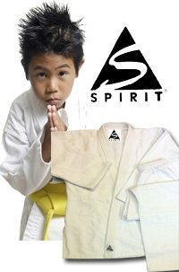 KARATE 9 Onzas polly-cotton Blanco Karate Uniforme - Blanco, 4/170cm