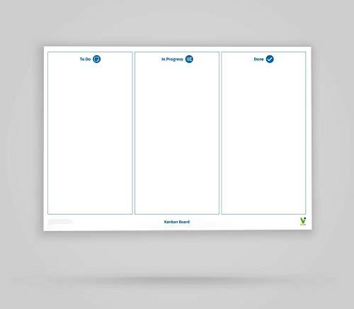 Vi-Tools - Vi-Board: Kanban Board 3 Spalten - Whiteboard Poster - DIN A0 - beidseitig beschreib- & abwischbar, einroll- und wiederverwendbar; inklusive umfassenden Starter Kit