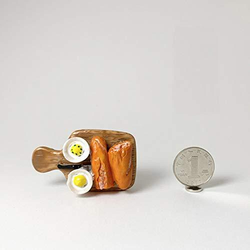 ZNYH Imitation Food Refrigerator Paste 3D Egg Bread Children Early Education Magnet Fridge Magnet Paste Message Stick Home Decoration-Chopping Board
