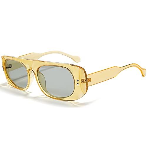 Joopin Gafas de Sol para Mujer Cuadradas Polarizadas Fiestas de Moda Protección UV400 Vintage para Viajes Fiestas Amarillo