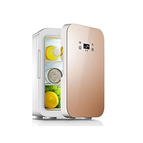 QPMY Mini Refrigerador, 4.2 Pies Cúbicos De Refrigerador Pequeño, Energía Dual Fría Y Caliente, Panel Táctil, Panel Móvil, Congelador Silencioso Y Que Ahorra Energía,Rosado