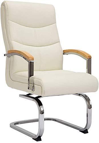 DBL Computer High-Rückseite PU-Leder-Gaming Schreibtisch Bow Fuß Vorstand und ergonomischer Swivel for Office Tagungsraum Tragfähigkeits: 330 Lbs (Farbe: Dunkelbraun) FACAI (Color : Beige)