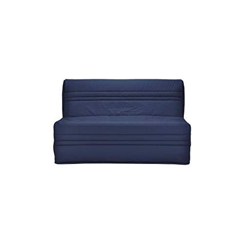 Générique Joé Banquette bz 2 Places - Tissu Bleu Marine - Contemporain - l 143 x p 97 cm
