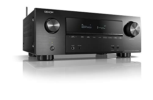 Denon AVRX2500H - Receptor AV (Bluetooth, Dolby Atmos, Airplay2, Dynamic Volume/EQ, HDMI, Heos integrado), Negro