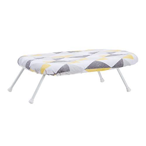 Amazon Basics Tabletop Ironing Board with Folding Legs - Geometric Removable Cover