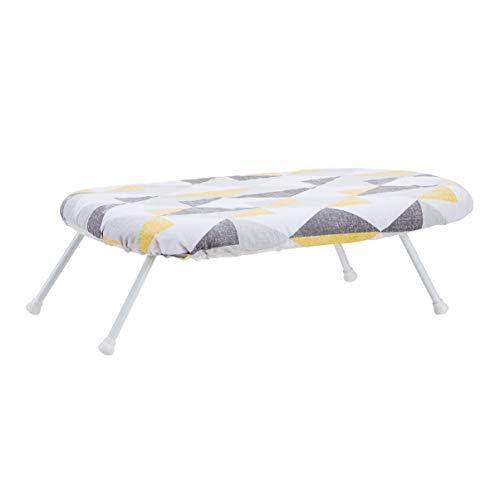 AMAZON BASICS AmazonBasics - Tisch-Bügelbrett mit klappbaren Beinen - geometrischer Abnehmbarer Bezug