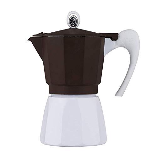 Coffee Moka Pot Moka Pot Cafetera Cafetera Cafetería Elaboración de café Espresso Maker Mocha Pot Mocha Epresso para Café de Cuerpo Completo (Color: Marrón, Tamaño: 3 Taza) BJY969