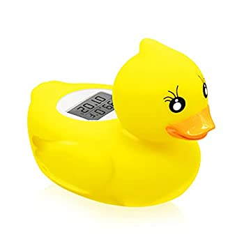 Baby Bath Thermometer -  Upgraded Version  Thermometer Duck for Infant in Bath Tub and Swimming Pool Yellow Temperature Duck Water and Room Thermometer
