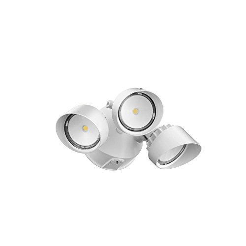 Lithonia Lighting OLF 3RH 4000K 120 MW M4 Adjustable LED Security Floodlight, 120 Volts, 36 Watts, White