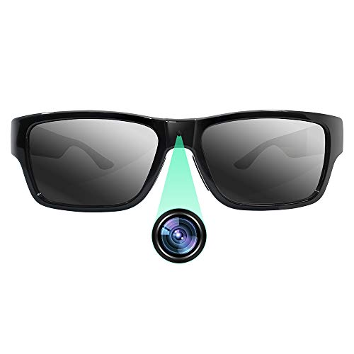 FUPOM Sunglasses with Mini Camera FHD 1080P Video Recording, Wearable Surveillance DVR Glasses Camera with Remote Control, Convince for Evidence Collection, Daily Life/ Excellent Moments Record.