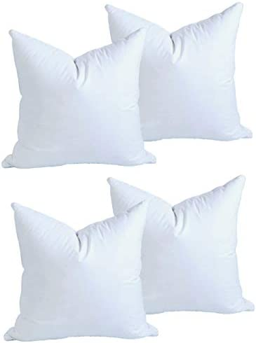MoonRest 4 Pack Synthetic Down Square Pillow Insert Form Sham Stuffing 100 Down Alternative product image